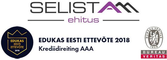 Selista Ehitus, Edukas Eesti Ettevõte 2018